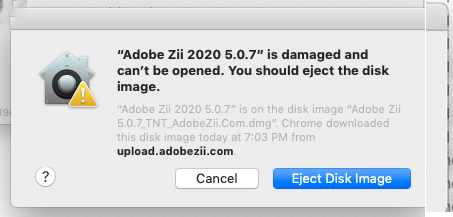 Adobe zii Damaged